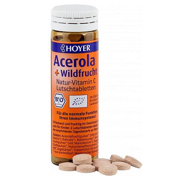 Comprimidos Acerola + Bayas silvestres 60un, 30g_ok