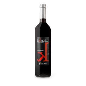 Vino-tinto-Tempranillo-Ekotrebol,-Bio-Vegano
