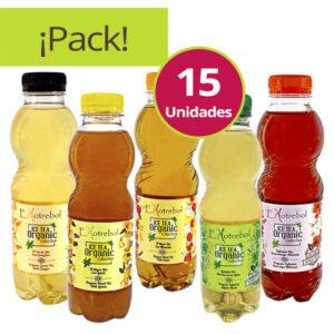 pack degustación 15 ice tea bio ekotrebol