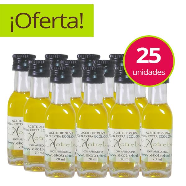 Miniaturas Aceite De Oliva Ecológico Extra Virgen Arbequina
