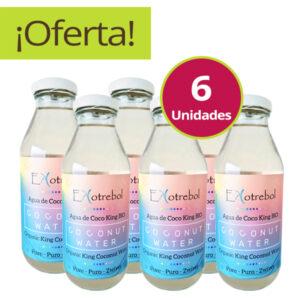 pack de 6 agua de coco ekotrebol